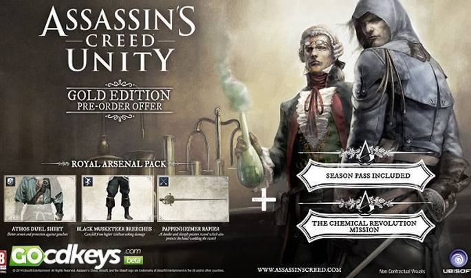 buy assassins creed unity gold edition pc cd key for uplay
