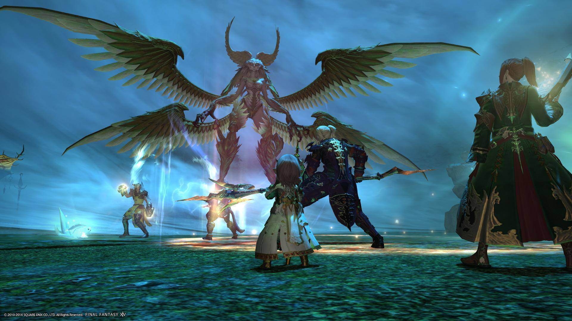 Final Fantasy XIV Online, developed and published by Square Enix is a Massively Multiplayer  Online – Role Playing Game (MMORPG) developed for Microsoft Windows. The game is a fourteenth inclusion to the series and the second MMORPG in the whole series.