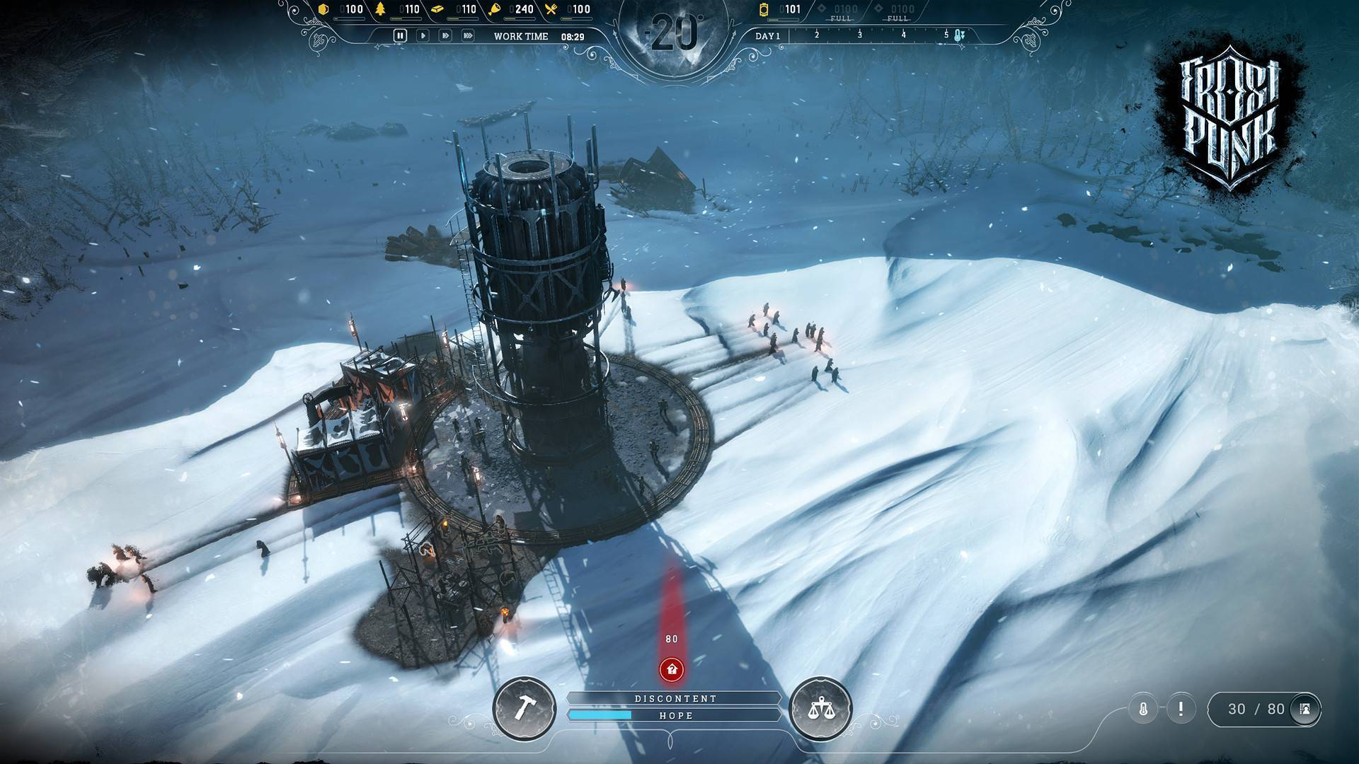 Article title about Frostpunk