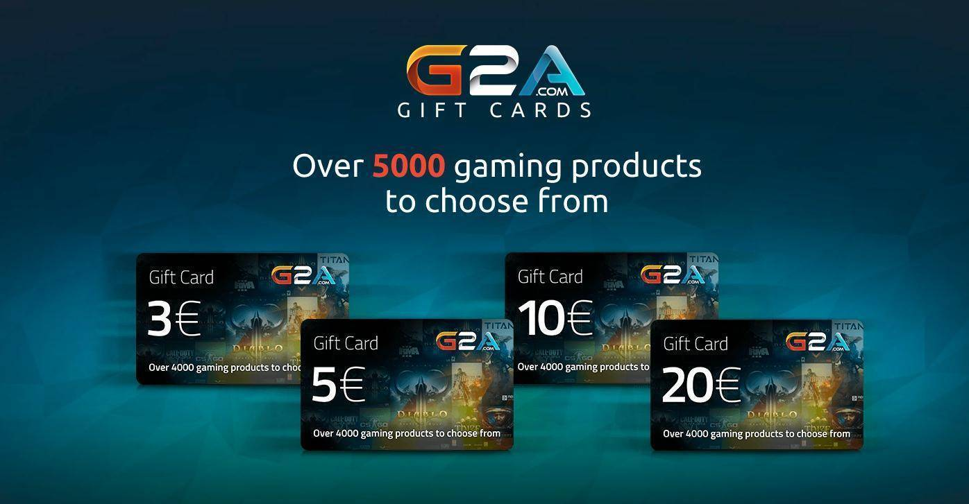 Buy G2A Gift Card 20€ pc cd key - compare prices
