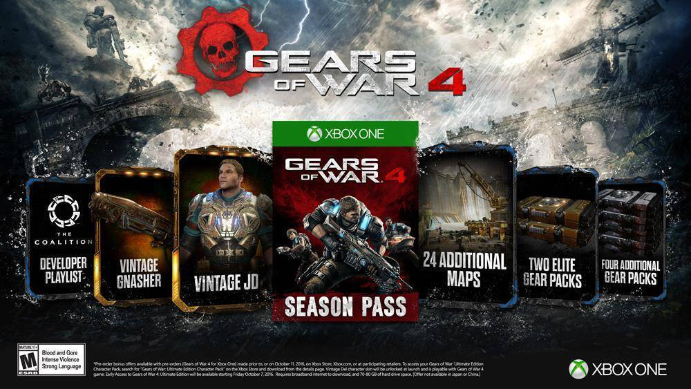 buy gears of war 4 season pass xbox one compare prices. Black Bedroom Furniture Sets. Home Design Ideas