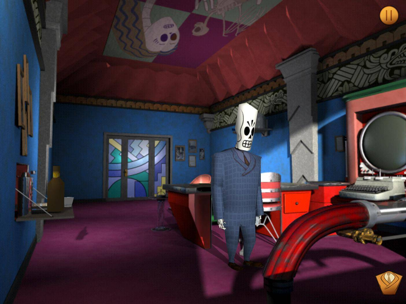Article title about Grim Fandango Remastered