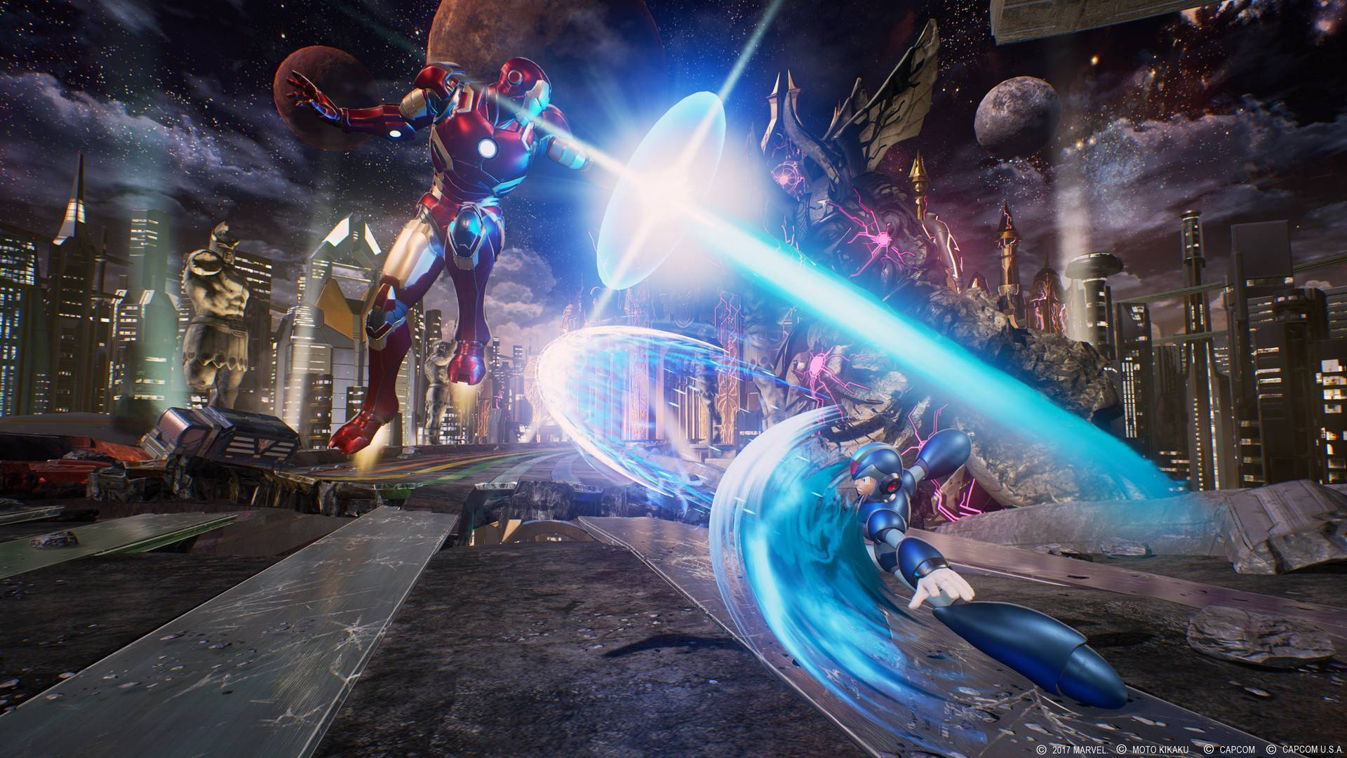 Article title about Marvel vs Capcom Infinite