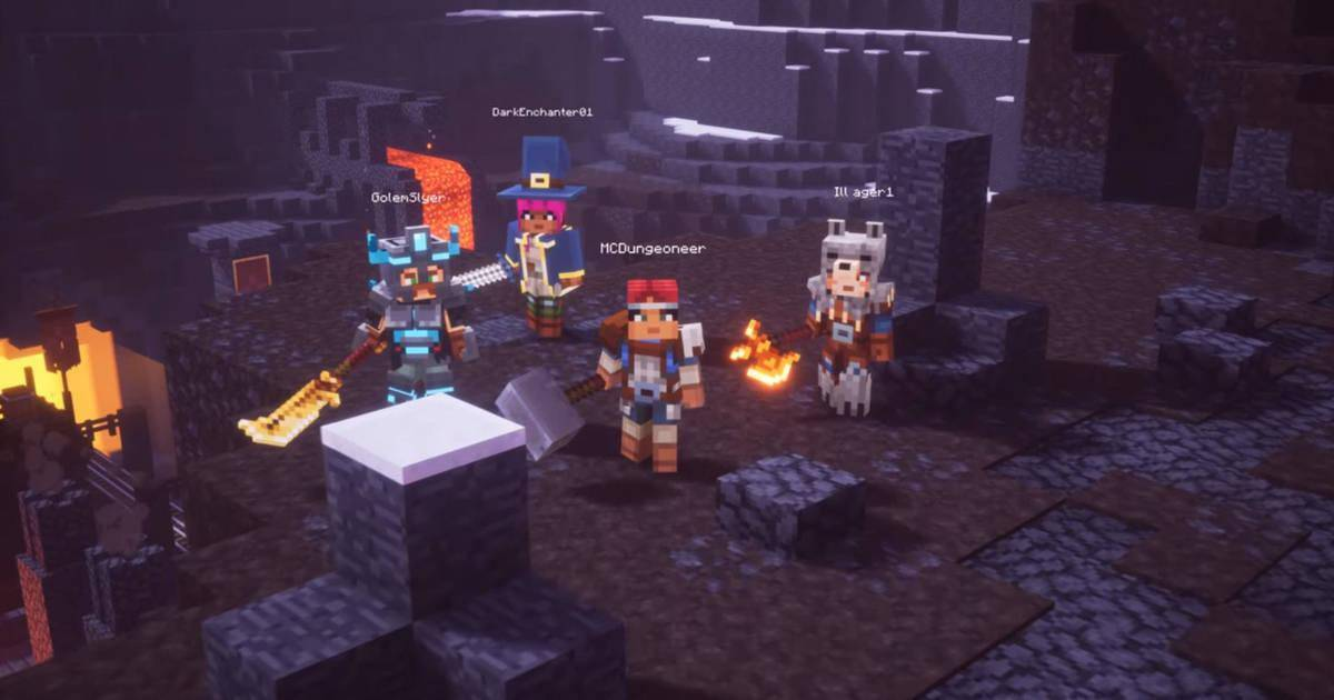 Article title about Minecraft Dungeons