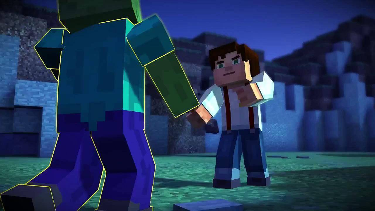 Article title about Minecraft Story Mode