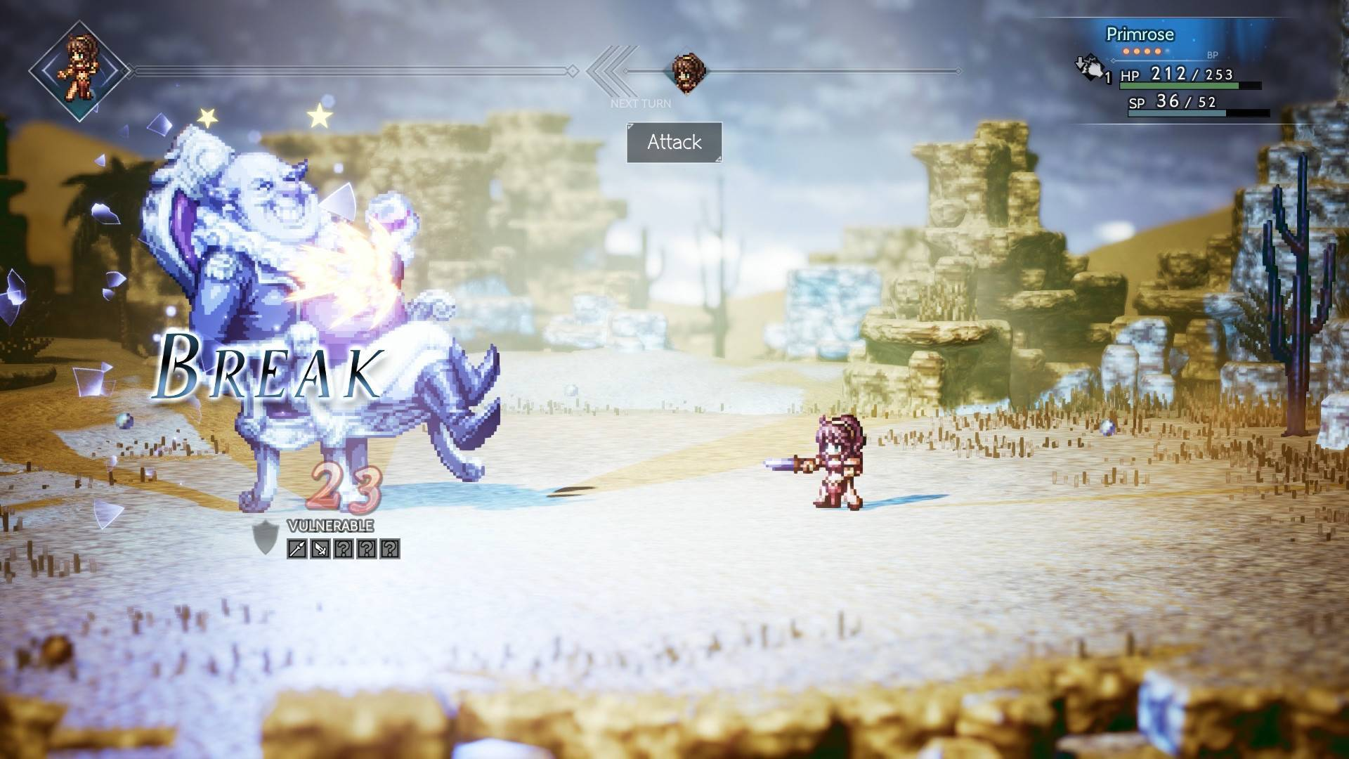 Article title about OCTOPATH TRAVELER