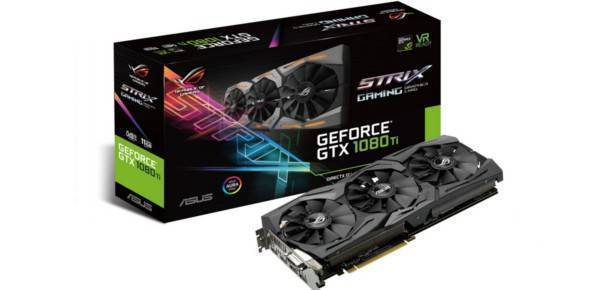 Asus GeForce ROG Strix Gaming GTX 1080Ti OC 11GB GDDR5