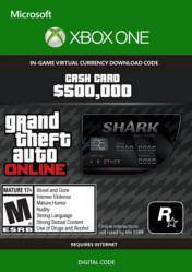 Grand Theft Auto Online $500000 Bull Shark Cash Card