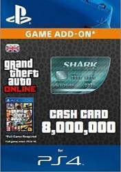GTA Online Megalodon Shark Cash Card 8.000.000$