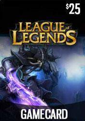 League of Legends RIOT Game Card 25$ US