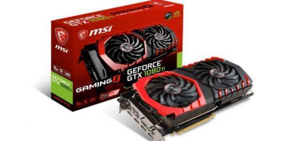 MSI GTX 1080Ti Gaming X 11GB GDDR5