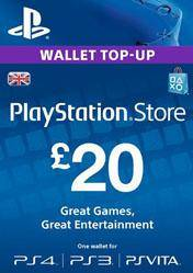 PlayStation Network Card 20 GBP UK