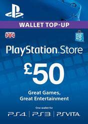 PlayStation Network Card 50 GBP UK