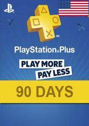 PlayStation Plus 90 days card US