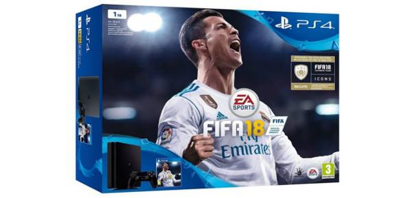 acheter sony ps4 playstation 4 slim 1tb fifa 18 console comparer les prix. Black Bedroom Furniture Sets. Home Design Ideas