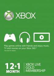 Xbox LIVE 12 + 1 Months Gold Subscriptions Card