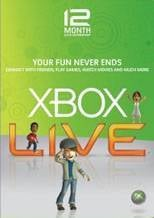 Xbox LIVE 12 Months Gold Subscriptions Card