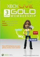 Xbox LIVE 3 Months Gold Subscription Card