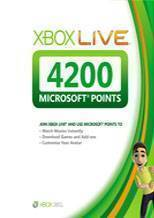 Xbox LIVE EU 4200 Points