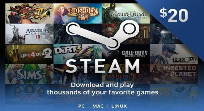 Steam Gift Card 20$ Giveaway